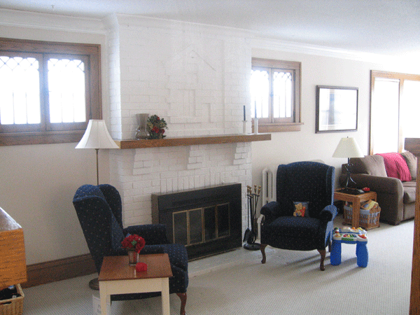The fireplace needed to be repaired before we could safely use it.