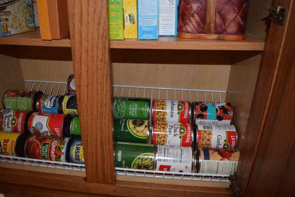 Canned goods storage.